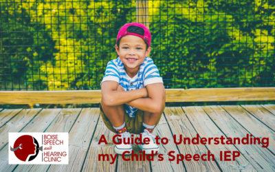 A Guide to Understanding my Child's Speech IEP